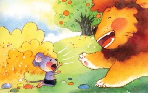 狮子和老鼠的寓言故事